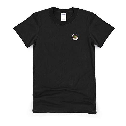 Tees on Trend Grogu Pocket T-Shirt | Divertida camiseta gráfica para hombres, mujeres | Bonita idea de algodón de gran tamaño para él, ella (XL) (2XL) (XL) (XL) (2XL) (grande) (grande)