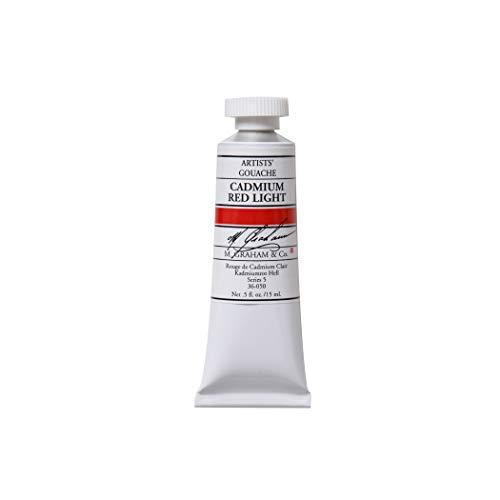M. Graham 1/2-Ounce Tube Gouache Paint, Cadmium Red Light