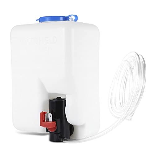 YAYANGG Sistemas de limpiaparabrisas de vidrio de parabrisas de coches Bomba de agua de lavadora universal Kit de botella de bomba de agua 12V Jet Switch Depósito Kit de instalación ( Color : White )