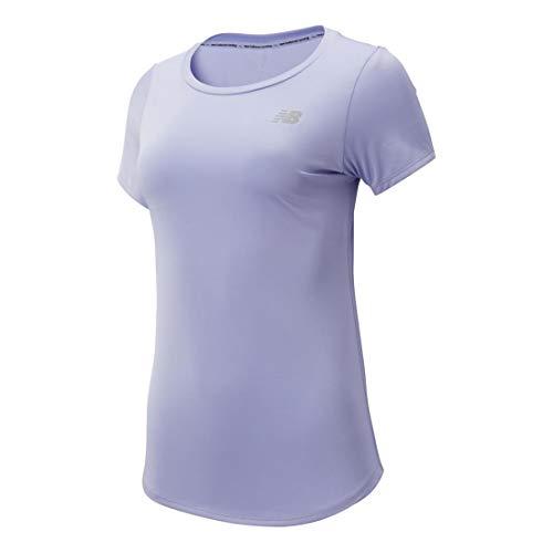 New Balance Damen Shirts Accelerate V2 T-Shirt - Hellgrau, Silber, hellgrau, S, 695950-50-142