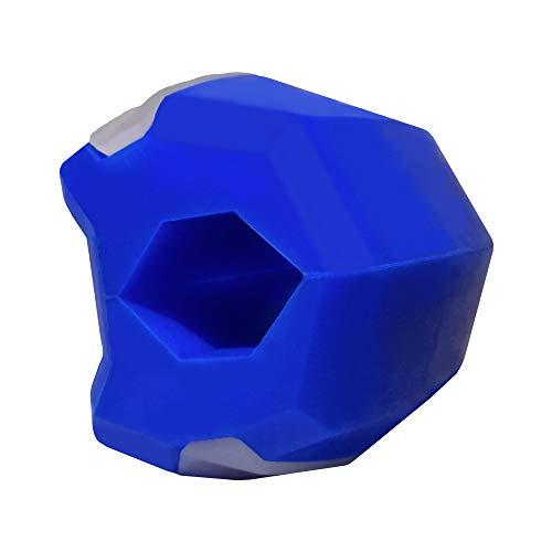 Gesichtsstraffer, Trainingsgerät für Kiefer Gesicht und Hals, Jaw Exerciser, Jawline Trainer   18 kg Widerstand (Blau)