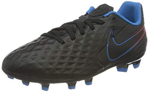 Nike Jr. Tiempo Legend 8 Academy MG Football Shoe, Black/Black-Siren Red-Light Photo Blue-Cyber, 35 EU