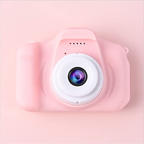 LUBINGT Appareil Photo pour Enfants Mini caméra Enfants Jouets Dessin animé 2 Pouces HD écran caméra numérique caméscope caméscope Langue Commutation Fusillade (Color : Pink)