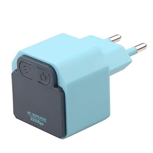 300Mbps Wall Plug montado universal Wi-Fi Range Extender/Wireless Signal Booster, repetidor WiFi, diseño de interacción profesional, estilo minimalista. La configuración es fácil de usar,Blue