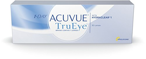 ACUVUE 1-DAY TruEye Tageslinsen – Tageskontaktlinsen mit -1 dpt & BC 8.5 – UV Schutz & hoher Tragekomfort – 30 Linsen