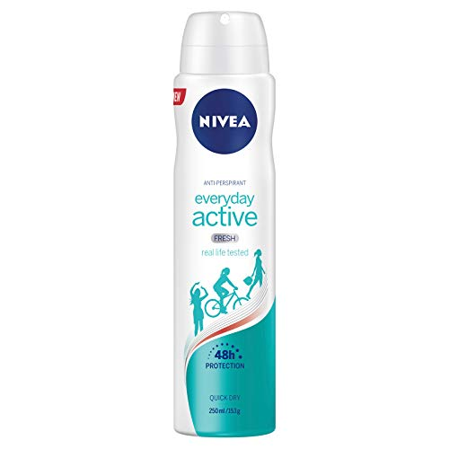 NIVEA Everyday Active Fresh Aerosol Antiperspirant Deodorant Spray, 250 ml