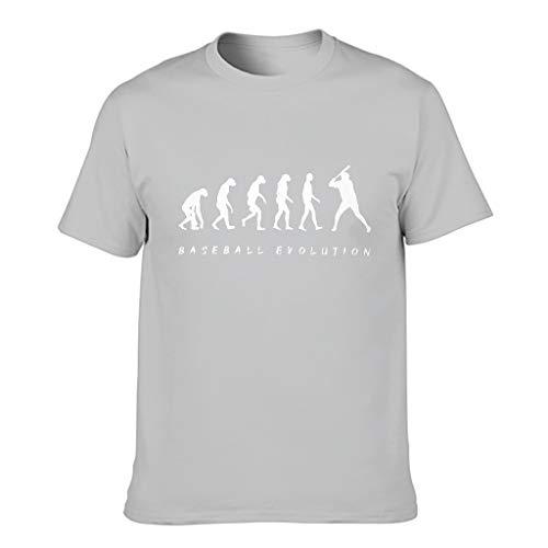 Camiseta de béisbol Evolución 100% poliéster para hombre, patrón de estilo europeo con sensación transpirable regalo para novio