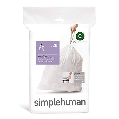 simplehuman, sacchetti su misura codice, doppie cuciture spesse, comode maniglie con cordoncino