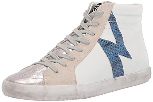 Sam Edelman Women's Avon Sneaker, White/Silver/True Blue, 7.5
