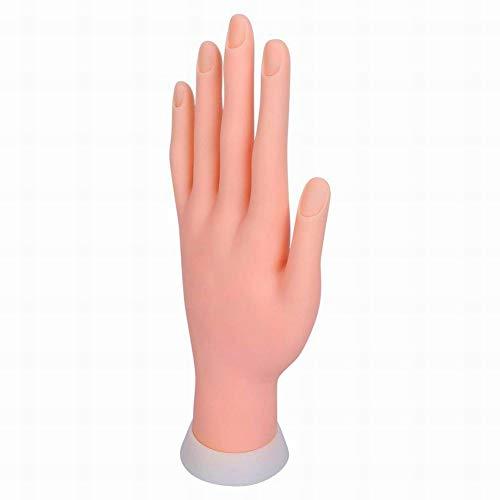 Delleu Nail Praxis Modell Weiche Hand Starter Training Nagelkunst Praxishand Übungsfinger Modell für Maniküre