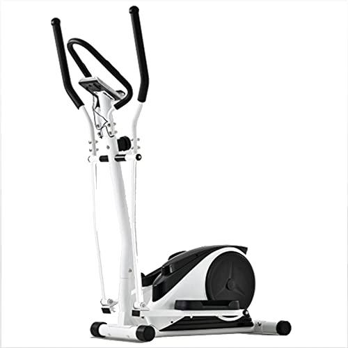 YDHR Bicicleta elíptica para el hogar con 8 niveles de resistencia magnética, monitor multifunción, capacidad de peso de 265 kg para el hogar