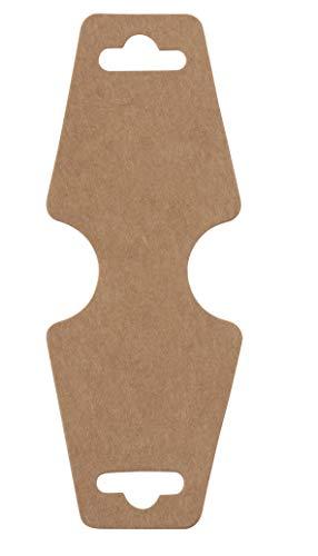 Ketting Kaarten - 200-Pack Blank Armband Kaart, Ketting Display Kaart, Armband Display Kaarten, Sieraden Hangende Kaarten voor Armbanden, Ketting, Enkeltje, Mode Sieraden, Kraft Bruin, 4.75 x 1.75 Inches
