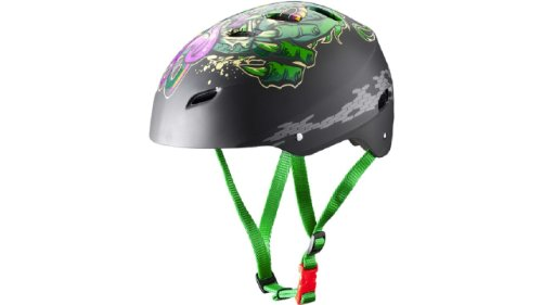 FireFly Skateboard-Helm Prostyle Cartoon Dargon black/green/purple, Größe:L