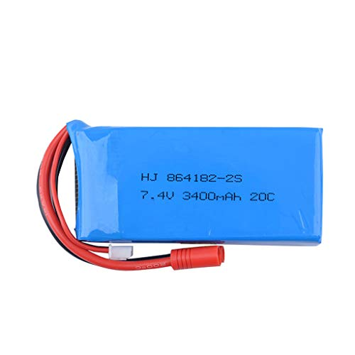 Upgrade 7.4V 3400mAH 2S 20C Battery Compatible with Syma X8C/X8W/X8G/X8HG Drone RC Model