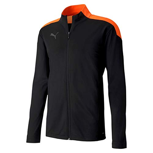 PUMA Herren ftblNXT Track Jacket Trainingsjacke, Black-Shocking Orange, L