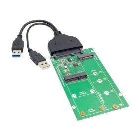 Nota: 1. l'SSD MSATA e NGFF non può funzionare allo stesso tempo. 2. L'adattatore funziona solo per B-key o B/M socket…