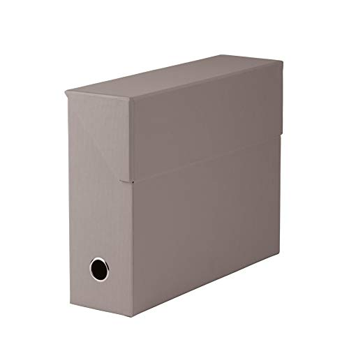 Rössler 1319452493 - S.O.H.O. Archivbox, mit Klappe und Griffloch, taupe