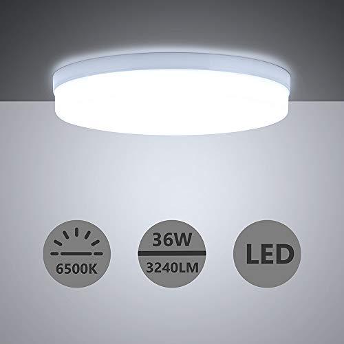 Yafido LED Lámpara de Techo Moderna 36W Plafón Led Redonda Ultra Delgado Downlight Blanco Frío 6500K 3240LM adecuada para Cocina...