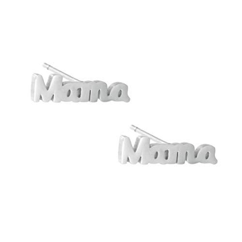TEMPUS FUGIT. Pendientes para Mamá. Acero Inoxidable Antialérgico Brillante. Inalterable por el uso