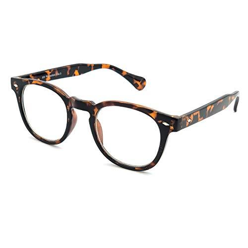 KISS Neutrale Brille stil MOSCOT mod. DEPP - optischer rahmen VINTAGE Johnny Depp mann frau CULT unisex - HAVANNA