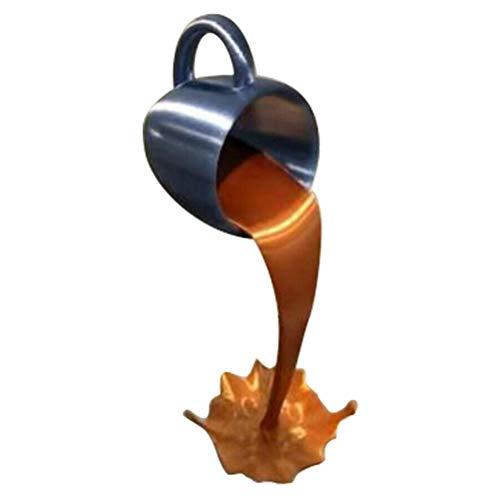 Haplws Taza de café Flotante Que se derrama Escultura de la Taza de café Que se derrama Escultura Creativa para la decoración del Comedor de la Cocina