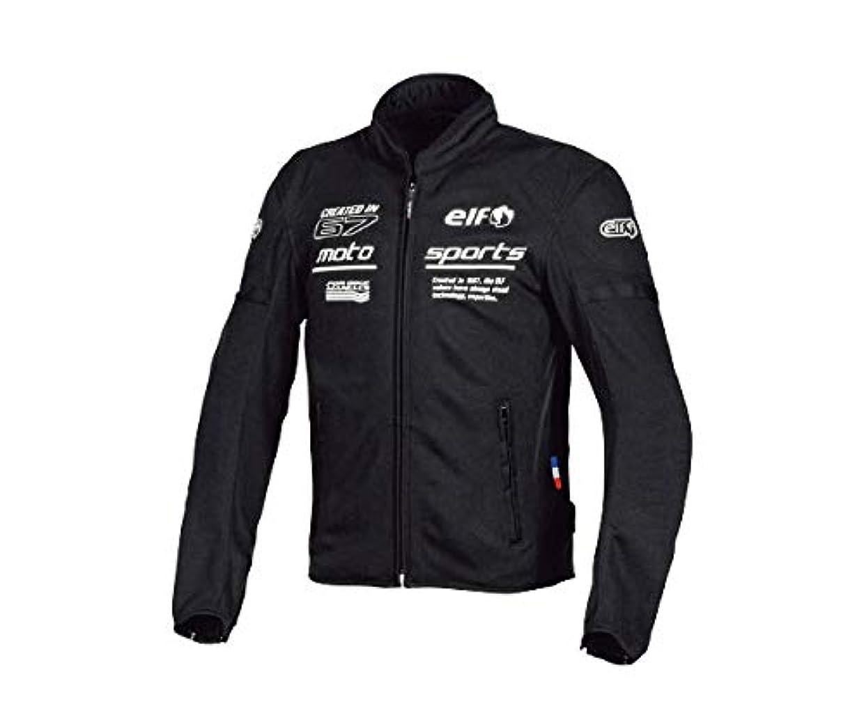 かどうかクリーム制裁エルフ(ELF) バイク用ジャケット フレッドメッシュジャケット ブラック&ホワイト Sサイズ EL-9224