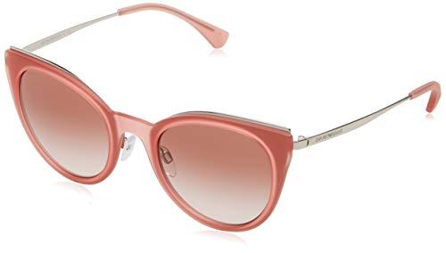 Emporio Armani 0ea2063 321613 52 Gafas de sol, Silver, Mujer