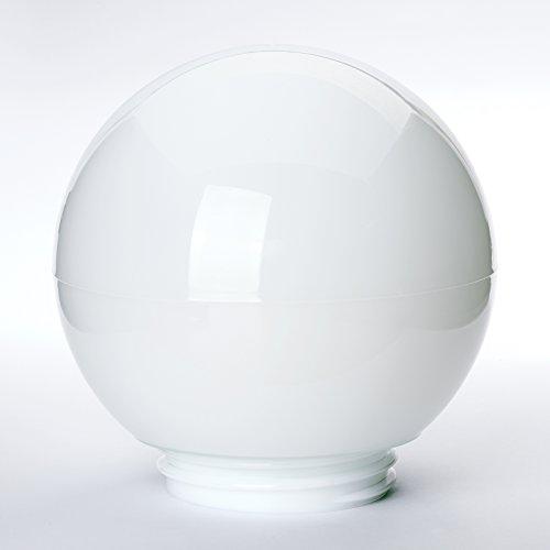Glas Kugel weiß mit Gewinde Ø 13,5cm, Gewinde A: 84,5mm I: 76mm Glas 60W