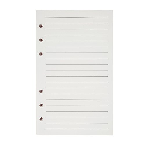 Linie Papier A6 6 Löcher Nachfüllpapier Leere Nachfüllseiten Refill Paper Ersatzblätter für Notizen DIY Bullet Journal Skizze Malerei, Insgesamt 200 Seiten