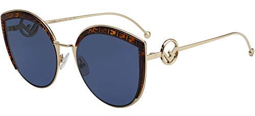 Fendi F IS FENDI FF 0290/S GOLD HAVANA/BLUE 58/21/140 women Sunglasses
