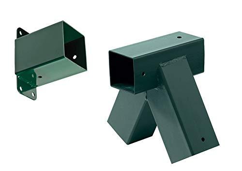 Anbauschaukel-Verbinder-Set grün, für Kantholz 9x9 cm