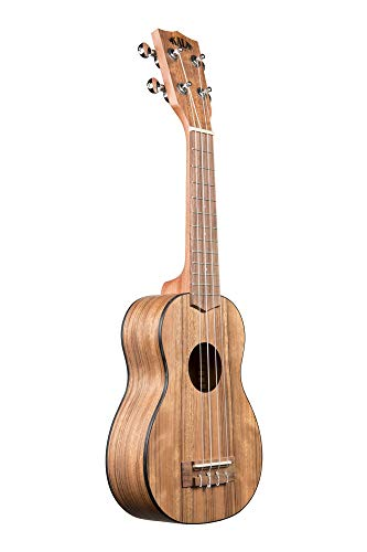 Kala KA-PWS Pacific Walnut Soprano Ukulele, Natural, Small