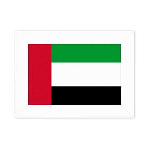 DIYthinker Vereinigte Arabische Emirate National Flagge Asien Land Desktop-Foto-Rahmen-Weiß-Bild-Kunst-Malerei Passt 10.2 x 15.2cm (4 x 6 Zoll) Bild Mehrfarbig