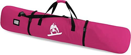 normani Snowboardtasche Snowboardbag dopplet gepolsterter Board Bag - 166 cm Länge mit integriertes Adressfeld und Schultergurt Farbe Pink