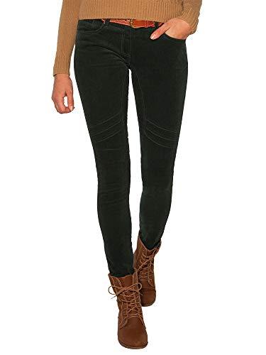 SOCCX Damen Hose aus Feincord mit Gürtel