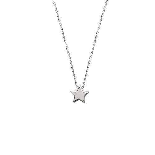 GHGFH Collares Mujer Plata,Plata Estrella De Cinco Puntas Moda Minimalista Collares Pendientes Joyería Regalos para Esposa Mamá Amiga Chicas Novia Cumpleaños Aniversario Día De San Valentín