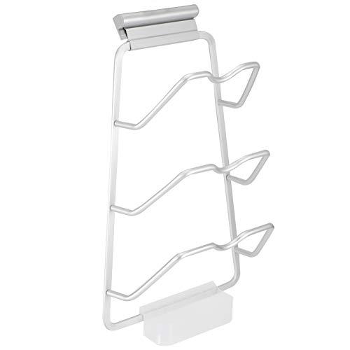 Rejilla para macetas, Organizador de Almacenamiento con Tapa, Aluminio anticorrosivo fácil de Instalar Que Ahorra Espacio de(Straight Plate-Plastic Drain Pan)