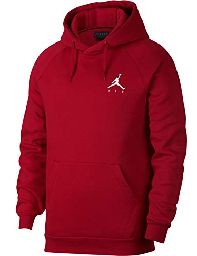 Jordan Sportswear Jumpman Fleece Herren-Pullover XL Fitnessstudio rot/weiß