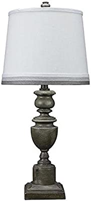 AHS Lighting L2209GY-U5 Copen Table Lamp, Grey Linen Shade