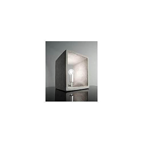 MATHI DESIGN Beton - Lampe béton Gris Cube