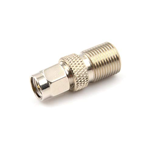 RENJIFAN 10 conectores de adaptador de acoplador tipo F hembra F/F Jack RG6 o RG59/1 conector coaxial SMA RF/conector coaxial macho F (color: 1 unidad)