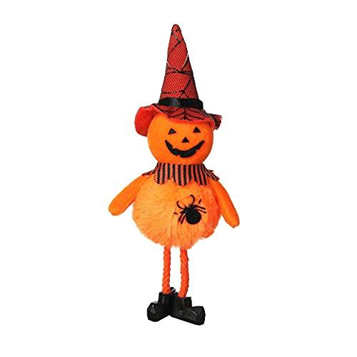 SLJXY Decoración de Halloween con fantasma colgante, calabaza, espíritu sin cara, mangas de viento, decoración para casa de espíritu de terror