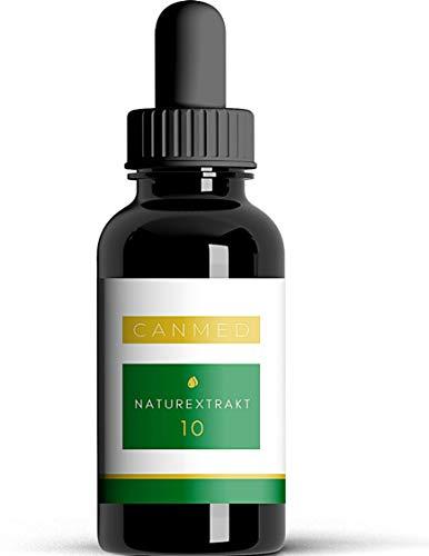 CANMED® NATUREXTRAKT 10 | Mit 1.000 mg konzentrierten Terpenen | Deutsche Verkehrsfähigkeitsbescheinigung | Natur Öl mit Terpenen, Omega 3-6-9, Vitaminen, Mineralien und Antioxidantien | 10 ml