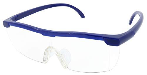 メガネ型拡大ルーペ(収納袋付) ネイビー