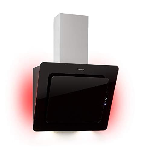 Klarstein Helena 60 Kopffreihaube,60 cm,EEK A,595 m³/h,RGB Ambiente-Licht,Umluft & Abluft,LED-Beleuchtung,Touch-Control,Dunstabzugshaube,Wandhaube,schwarz