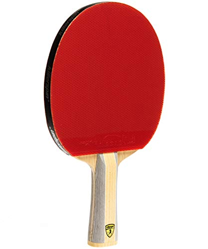 Killerspin Diamond CQ RTG Premium Ping Pong Paddle| Table Tennis Racket| Flared Handle Ping Pong Bat| 7-Ply Wood/Carbon Fiber Blade, Fortissimo Rubbers| ITTF Approved| Memory Book Gift Storage Case