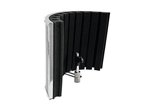 OMNITRONIC AS-02 Mikrofon-Schall-Absorbersystem inkl. Adapter | Akustik-Schirm für Studio- und Live-Anwendungen | Reduziert störende Raumeinflüsse wie Reflexionen, Echos und Nebengeräusche bei Aufnahmen auf ein Minimum
