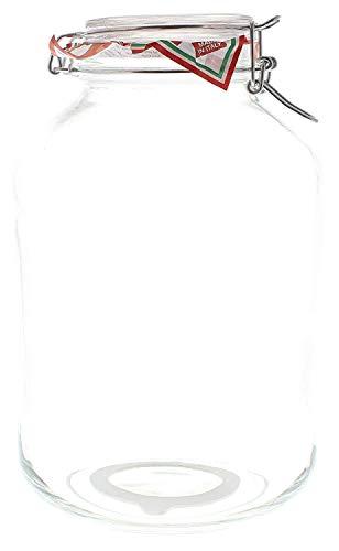 Alambre Planchar Cristal 5 Litros, con blanca Goma Ring y Tapa de vidrio