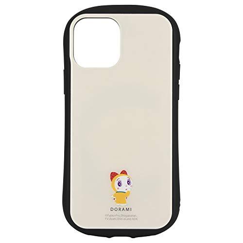 グルマンディーズ ドラえもん/iPhone12/12 Pro(6.1インチ)対応 ハイブリッドガラスケース ドラミ DR-76B ベージュ