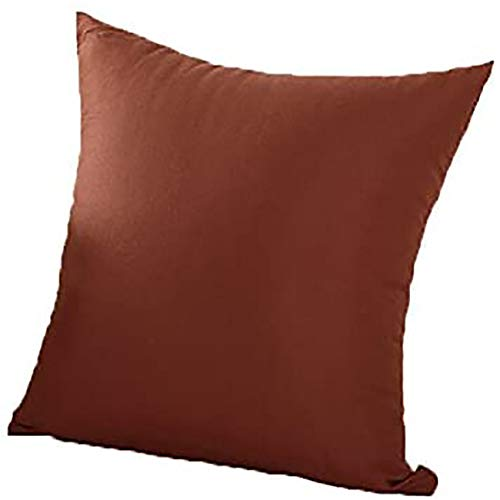Figutsga - Funda de cojín para sofá cama, color liso, color puro, color marrón oscuro